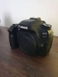 Título do anúncio: Canon 80d + 18-55
