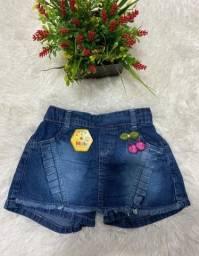 Título do anúncio: Short Saia Jeans - Tam 6