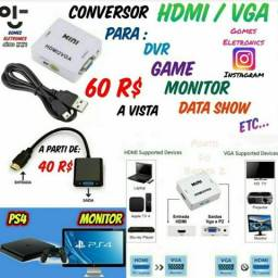 Conversor HDMI para VGA - 2 Modelos ( Loja Fisica )
