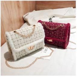Título do anúncio: Bolsa de lã luxo casual últimas unidades