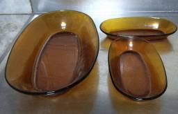 Louças Duralex originais da década de 80.