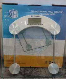 Balança Digital Corporal Vidro Temperado Banheiro Academia