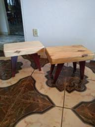 Banqueta madeira maciça
