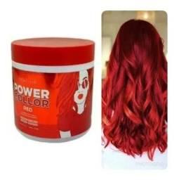 Tonalizante Máscara Power Color Red Tróia Hair 500gr