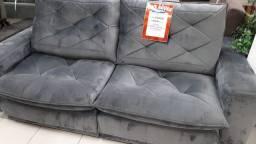 Título do anúncio: Sofá cinza retrátil reclinável