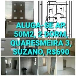 Apartamento 2 dormitorios - 50m2 - Quaresmeira III - Suzano