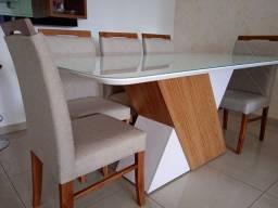 Título do anúncio: Mesa de jantar olinda de 8 lugares nova completa