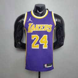 Novo Camiseta Basquete Regata Nba Lakers Roxa Bryant # 24