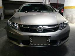 Honda Civic cinza automático LXL 2012 completo - 2012