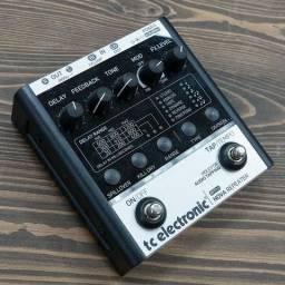 Pedal Delay pedaleira Tc Electronic Nova Repeater, Tap Tempo, Fonte