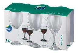 Taças de Vinho Na Caixa 250ml - Windsor Nadir Figueiredo