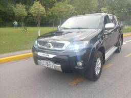 Hilux srv automático 4x4 diesel kit multimidia couro nova aceito troca financio doc ok!!! - 2011