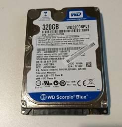 HD 320GB para notebook ou pc