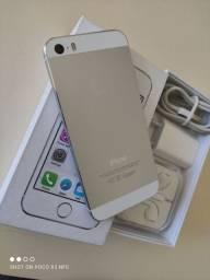 iPhone 5s Silver Novo de vitrine completo Vendo ou troco