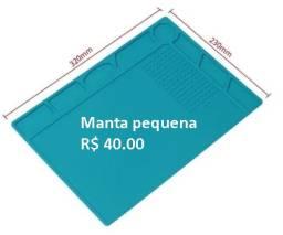 Manta Tapete Térmica Magnética Antiestática Silicone Azul - S120-P Novo