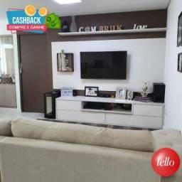 Apartamento à venda com 3 dormitórios em Vila valparaíso, Santo andré cod:74324