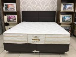 Black Friday Cama Box + Colchao Pro-Hotel Probel Super King 193x203 05 Anos de Garantia