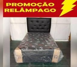 Cama Box Solteiro+Colchão Conjugado Entrega Gratis