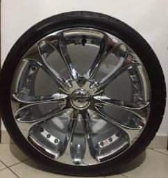 Vendo ou troco rodas cromadas n 18 mult furos valor 3,000 mil reais