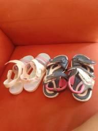 Sandálias infantis 2 pares