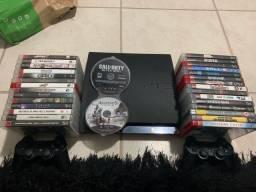 PS3 / 2 controles / 10 jogos (a verificar disponibilidade)