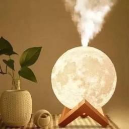 Luminária Abajur E Umidificador E Aromatizador Lua Cheia 3d