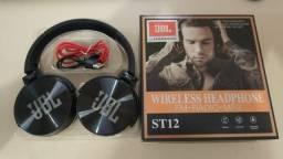 Fone de Ouvido Sem Fio St12 Sound Intone Wireles Headphone Fm / Radio / Mp3