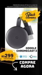 Chromecast 3 Google - Original - Novo - Youtube - Netflix - Smart - Chrome - Crome