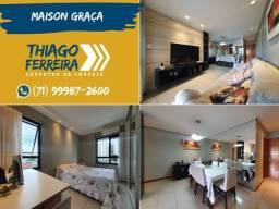Maison Graça, 3 quartos, suíte e dependência, nascente, armários, em 105m²