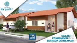 °°44°° Margareth Alencar 2, casas com 2 quartos - Estrada de Ribamar