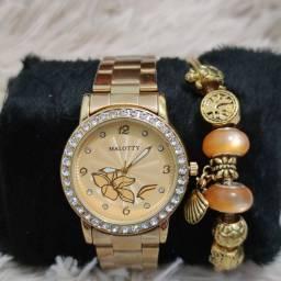 Relógio feminino importado original Malotty luxo lindíssimo