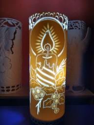 Luminária de cano pvc (vela natalina)