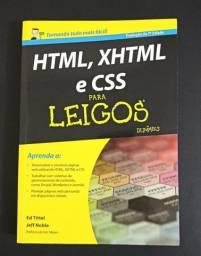 Livro: Html, Xhtml e Css para leigos. 412 páginas. Novo!