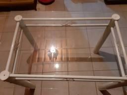 Mesa c tampo de vidro