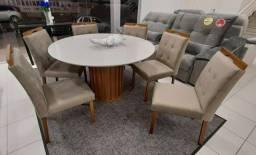 Mesa 6 cadeiras nova