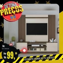 """Título do anúncio: DETONA PREÇOS / ESTANTE HOME PARA TV ATÉ 65"""" (BRINDE SUPORTE UNIVERSAL)"""