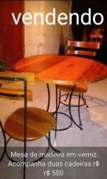 Título do anúncio: Mesa redonda de  madeira