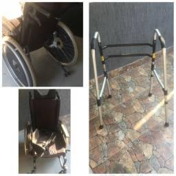 Título do anúncio: Vende-se cadeira de rodas e andador .
