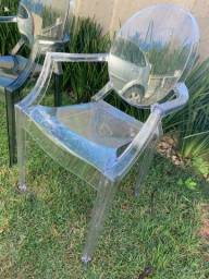 Cadeiras de acrílico Sofia em bom estado (valor unidade)