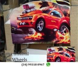 Título do anúncio: Cama Infantil Hot Wheels, Entrego