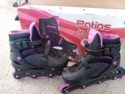 Vendo patins usado uma vez só
