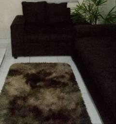 Sofá semi novo é tapete.