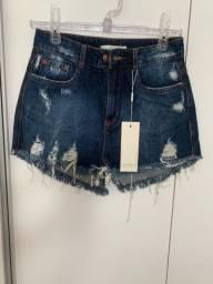 Título do anúncio: Shorts jeans com etiqueta lady rock e denim zero