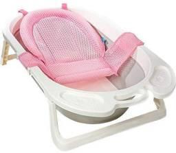 Rede de banho para bebê. Cor rosa. PERFEITO ESTADO