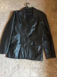 Jaqueta couro legítimo feminina