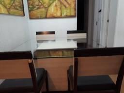 Mesa  quadrada tampo de vidro em Icaraí