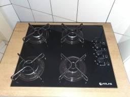 Fogão cooktop 4 bocas com armário