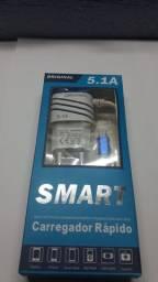 Carregador Rapido Smart 5.1a V8 Original 3 Usb