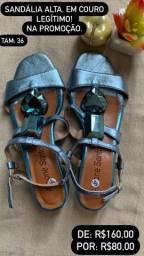 Título do anúncio: Sandália alta em couro legítimo
