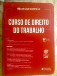 Título do anúncio:  Livro de Direito do Trabalho, Henrique Correia, 2021, 6 edição novo,